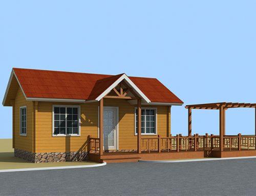 IG-P-002 One floor prefabricated log garden house