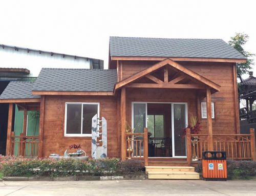 IG-1-060 Chinese manufacturer of prefab log cabin for office