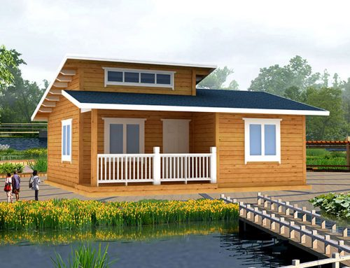 IG-2-040 ecomonic easy assembly prefab timber homes for resorts