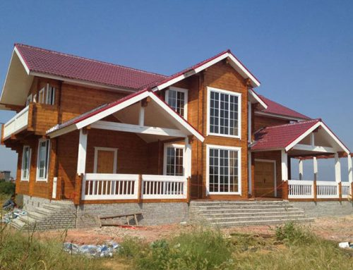 IG-2-041 Luxry prefabricated wooden villa with high quality