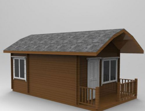 IG-1-055 prefabricated log cabin wooden house for sale